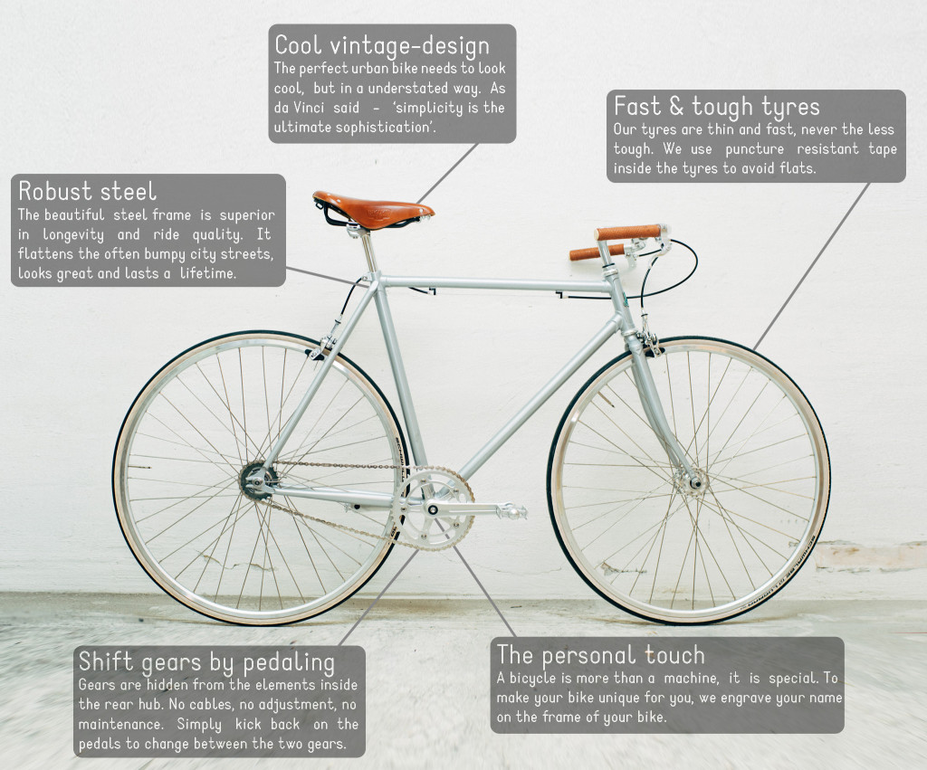 Features of the perfect urban bike by KP Cyclery