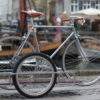 Silver Sidecar Bicycle