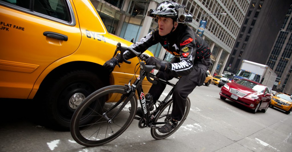 Lucas Brunelle in NYC Traffic