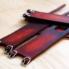 Brown leather pedal straps