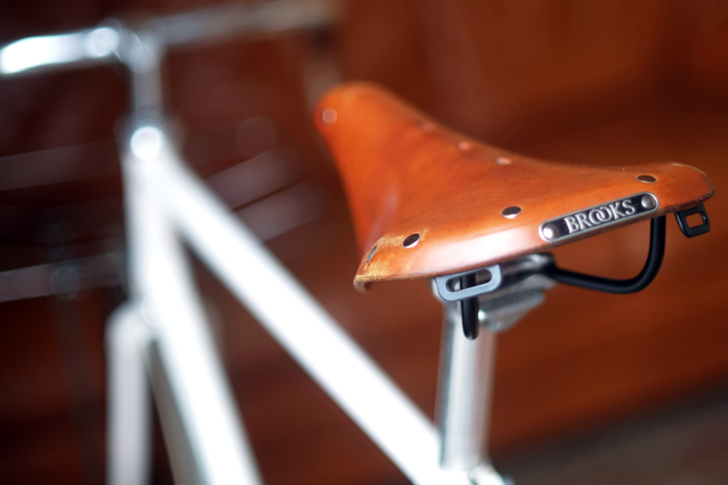 Aged Worn Brooks Saddle