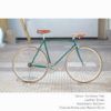 KP Cyclery Bike - Caribbean Teal x Bullhorn Handlebars x Brown B17 Brooks