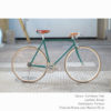 KP Cyclery Bike - Caribbean Teal x Porteur Handlebars x Brown B17 Brooks