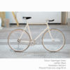 KP Cyclery Bike - Copenhagen Cream x Bullhorn Handlebars x Black B17 Brooks