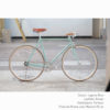 KP Cyclery Bike - Laguna Blue x Porteur Handlebars x Brown B17 Brooks