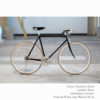 KP Cyclery Bike - Panthera Black x Porteur Handlebars x Black B17 Brooks