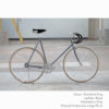 KP Cyclery Bike - Sharkskin Gray x Drop Handlebars x Black B17 Brooks