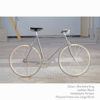 KP Cyclery Bike - Sharkskin Gray x Porteur Handlebars x Black B17 Brooks