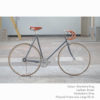 KP Cyclery Bike - Sharkskin Gray x Drop Handlebars x Brown B17 Brooks
