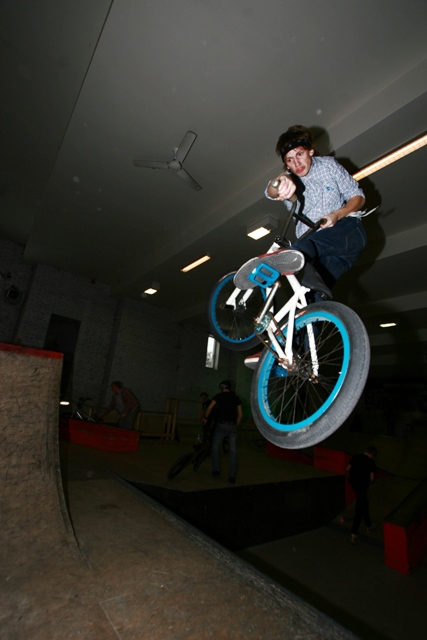 Kaspar riding BMX in 2008