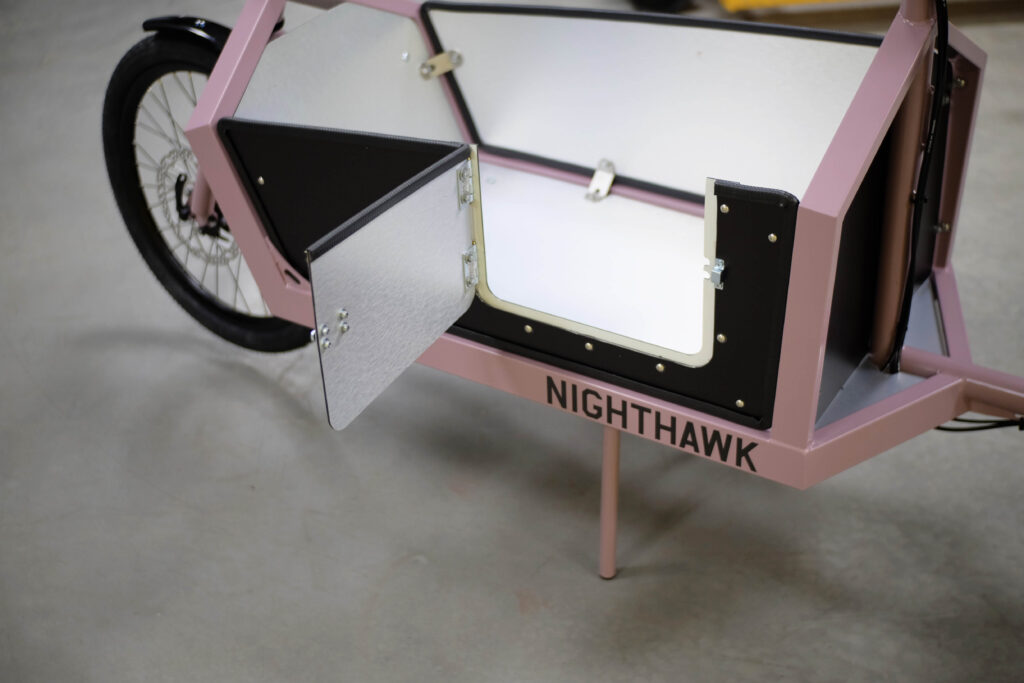 Nighthawk cargo bike dog pass door