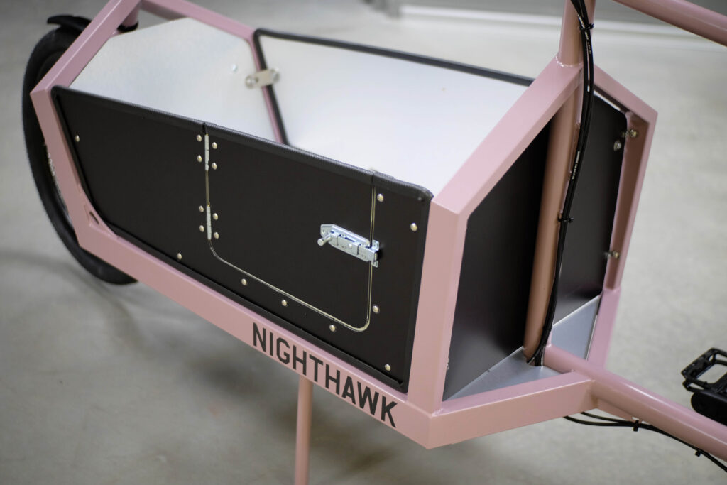 Nighthawk cargo bike child door